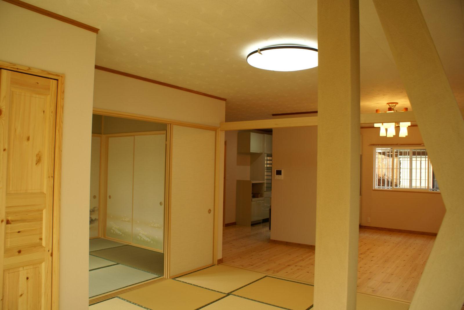 広くワンルームになったLDK+和室