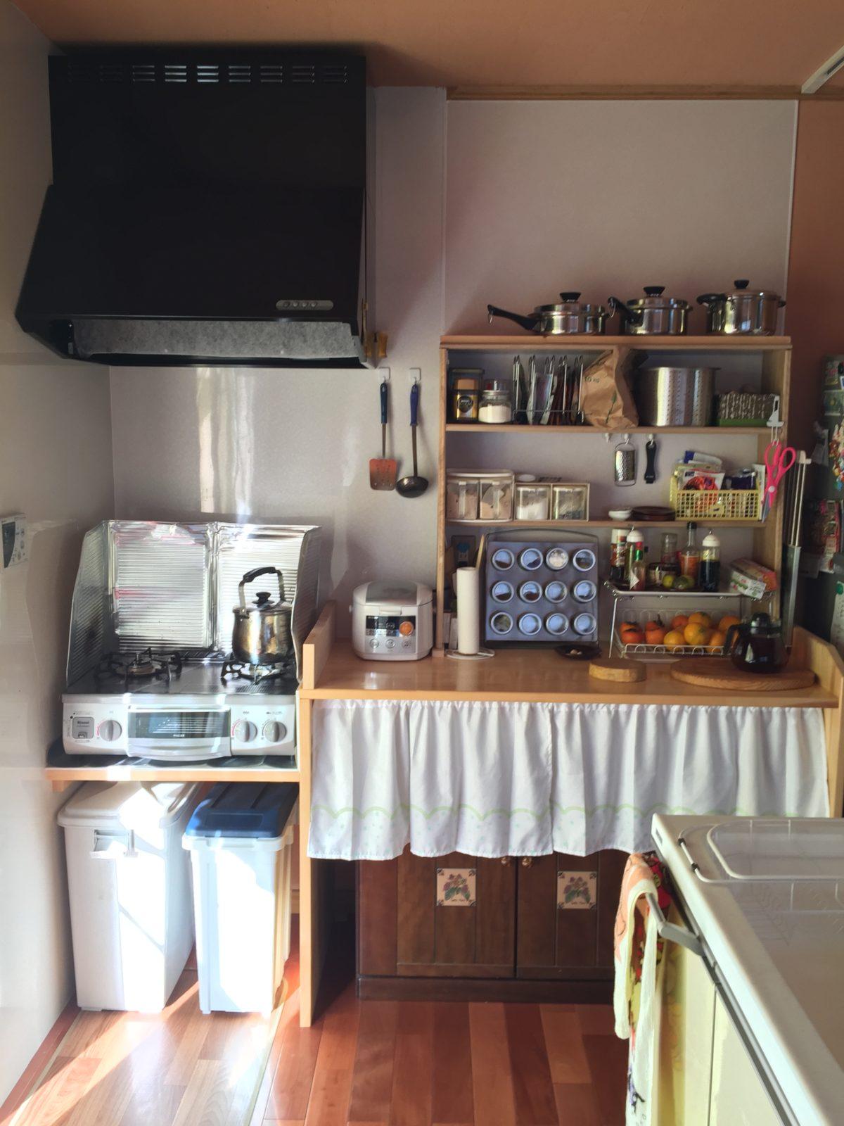キッチン、ガス台周辺